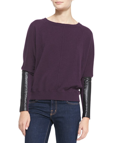 Sweater Leather Sleeves