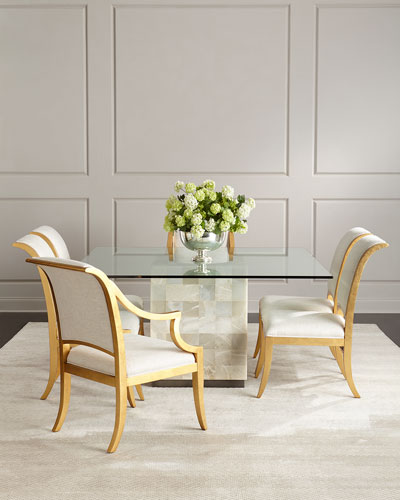 Dining Room Furniture at Neiman Marcus Palmetto Quartz Dining Table   Elizabeth Dining Chairs