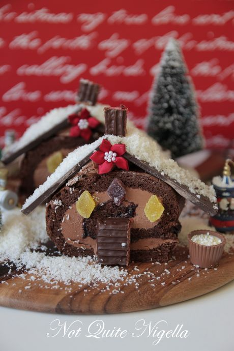 Swiss Roll Christmas Cottage Cake Recipe Not Quite Nigella