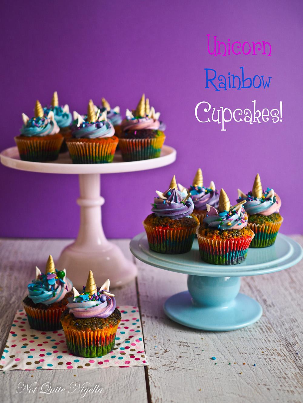 Rainbow Unicorn Cupcakes Not Quite Nigella