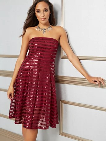 Ny Amp C Eva Mendes Collection Rosabella Sequin Strapless Dress