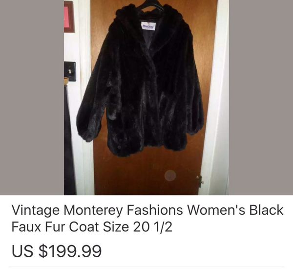 Monterey fashions vintage faux fur coat for Sale in Summerville  SC      100