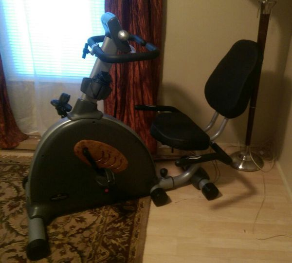Bodyfit by Sports Authority recumbent bike exercise ...