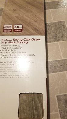 Stoney Oak grey vinyl plank flooring for Sale in Lakewood  WA   OfferUp
