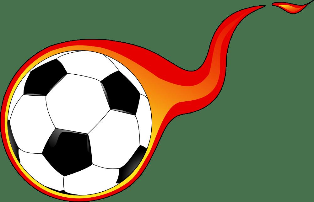 OnlineLabels Clip Art - Flaming Soccer Ball