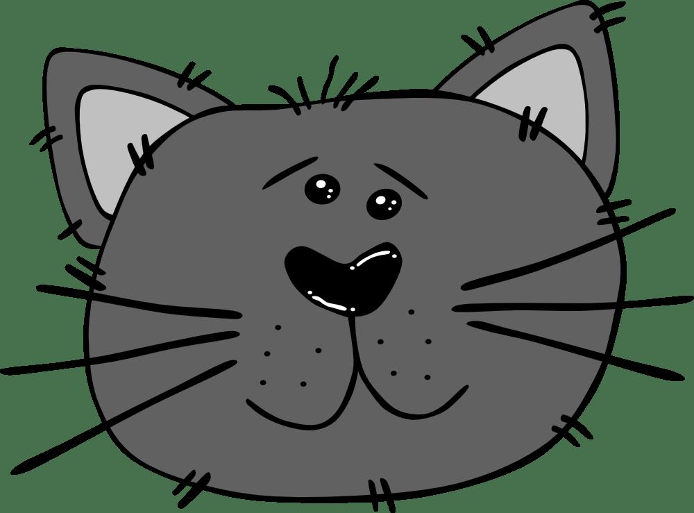 OnlineLabels Clip Art - Cartoon Cat Face