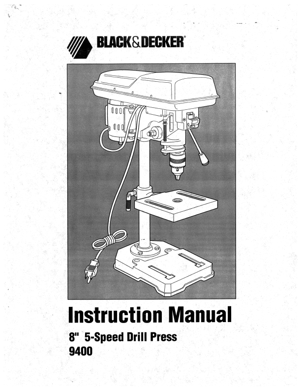 Black And Decker Drill Manuals