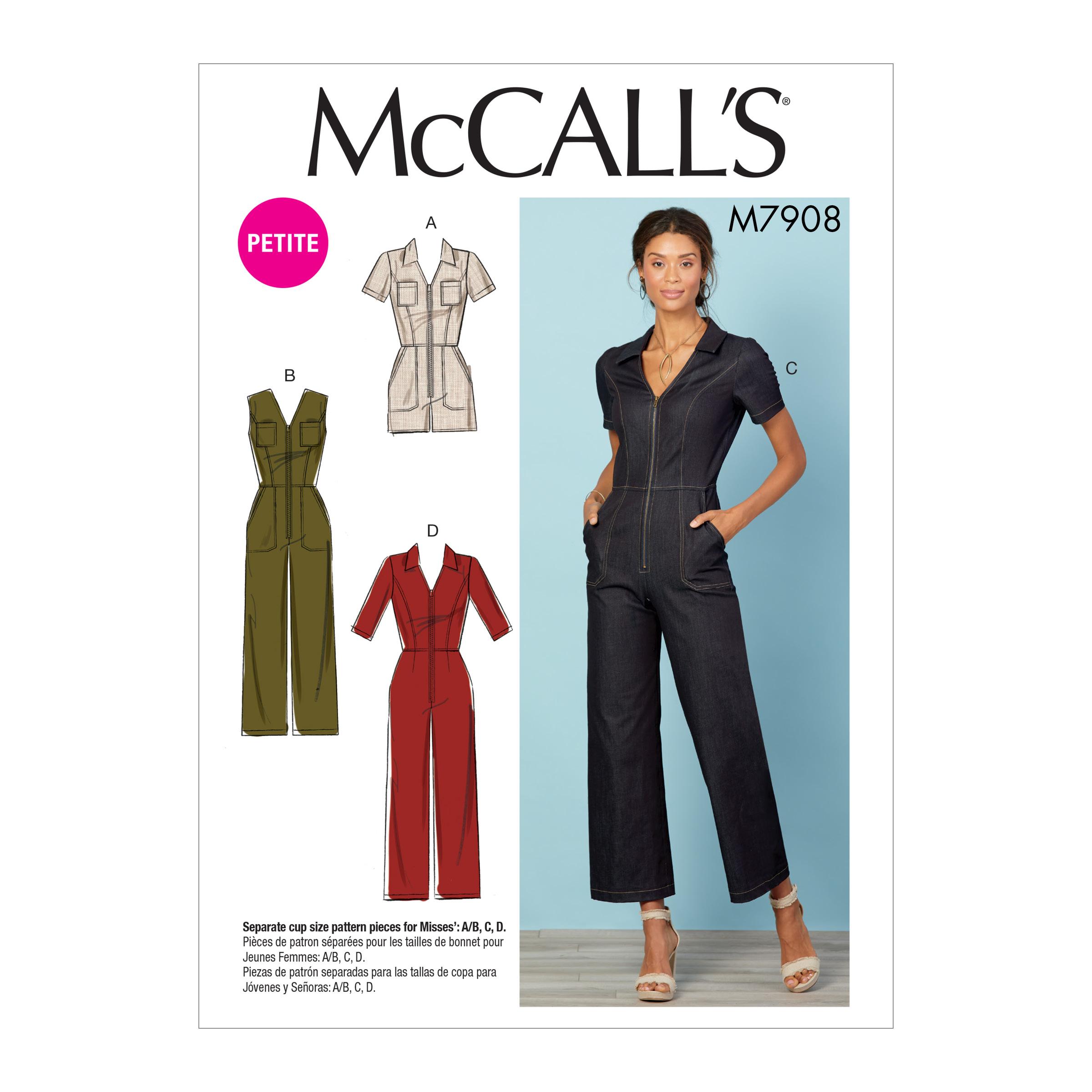 Mccall S 7908 Misses Miss Petite Jumpsuits