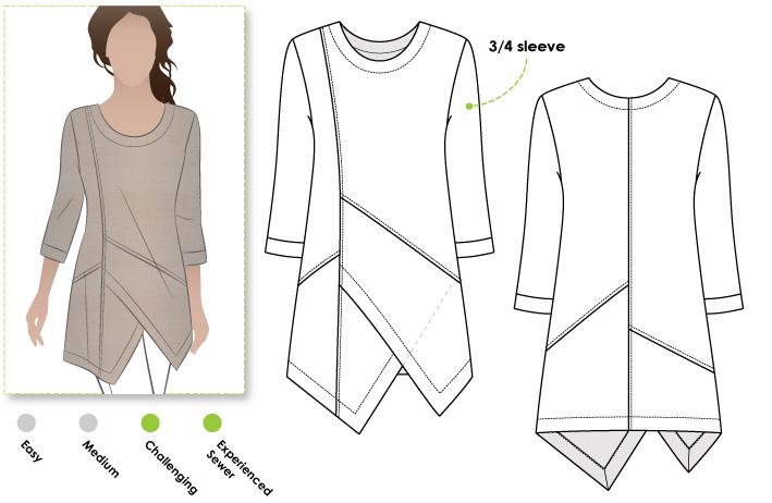 Linen Asymmetrical Tunic Sewing Patterns