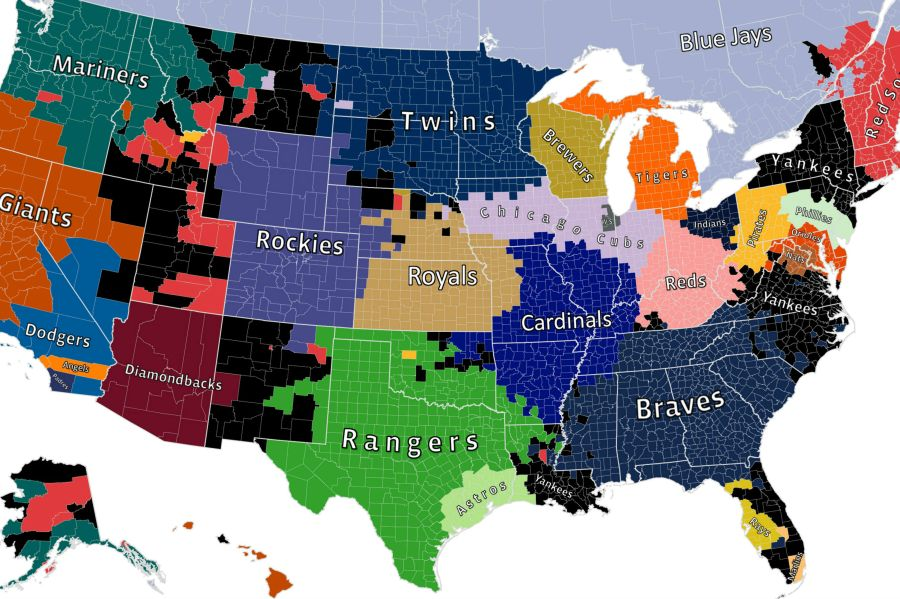 Facebook s MLB fan map reminds us Yankees fans are everywhere   MLB     Facebook s MLB fan map reminds us Yankees fans are everywhere      MLB  April 1