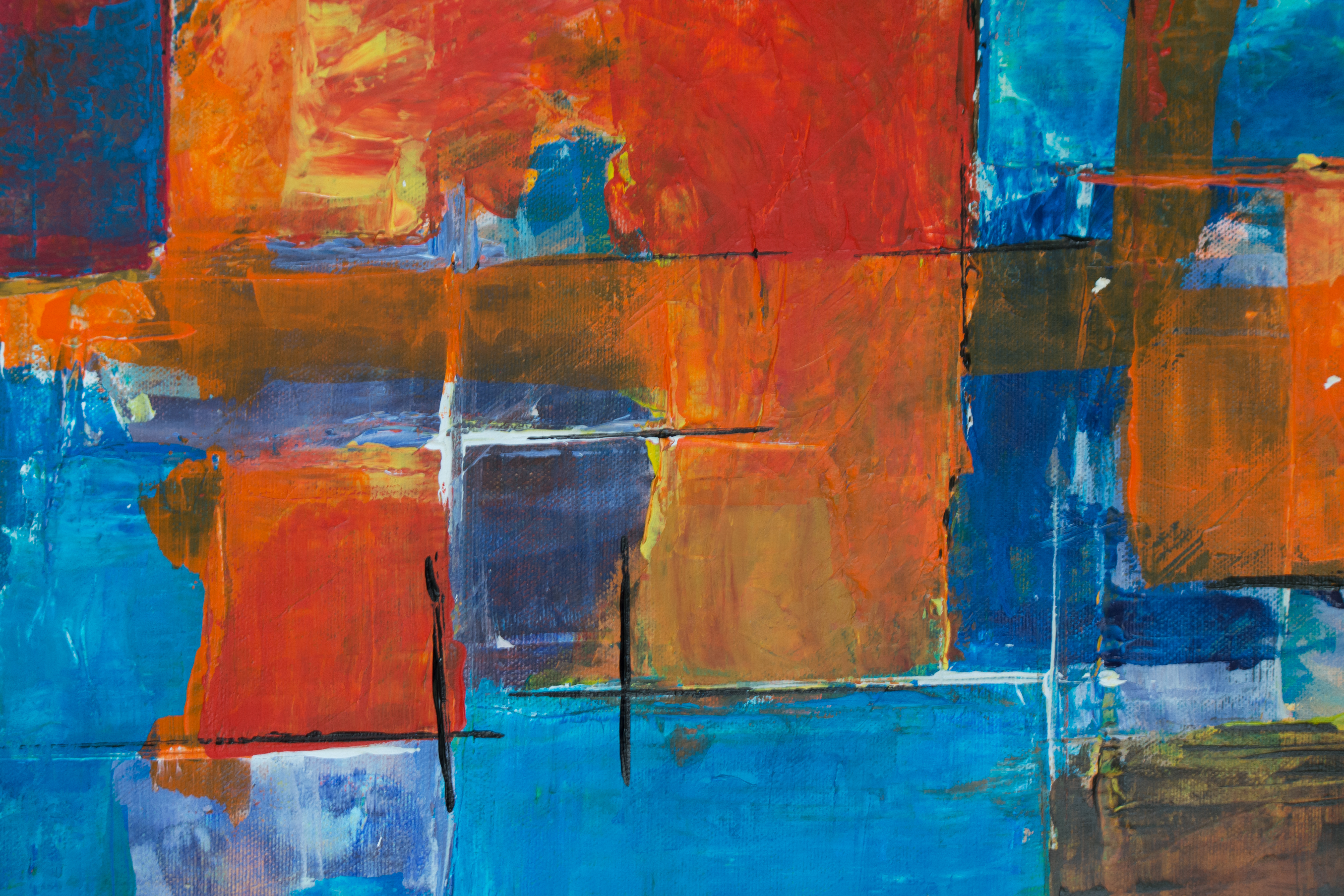 Close Up Photography Of Multi Coloured Abstract Painting