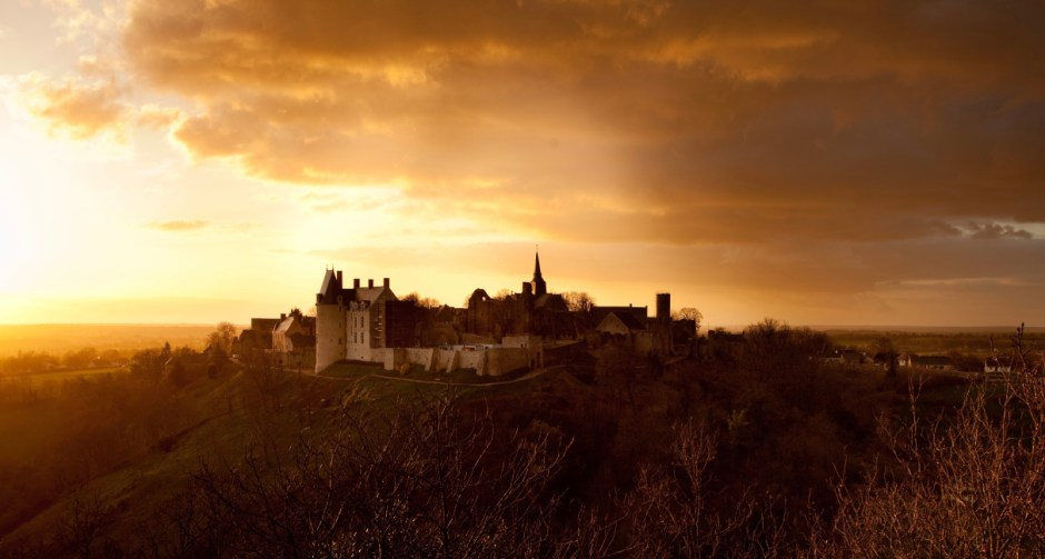 Castle On Top Of Hill At Sunset 183 Free Stock Photo