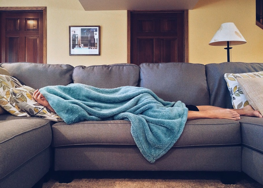 Person Lying On Sofa 183 Free Stock Photo