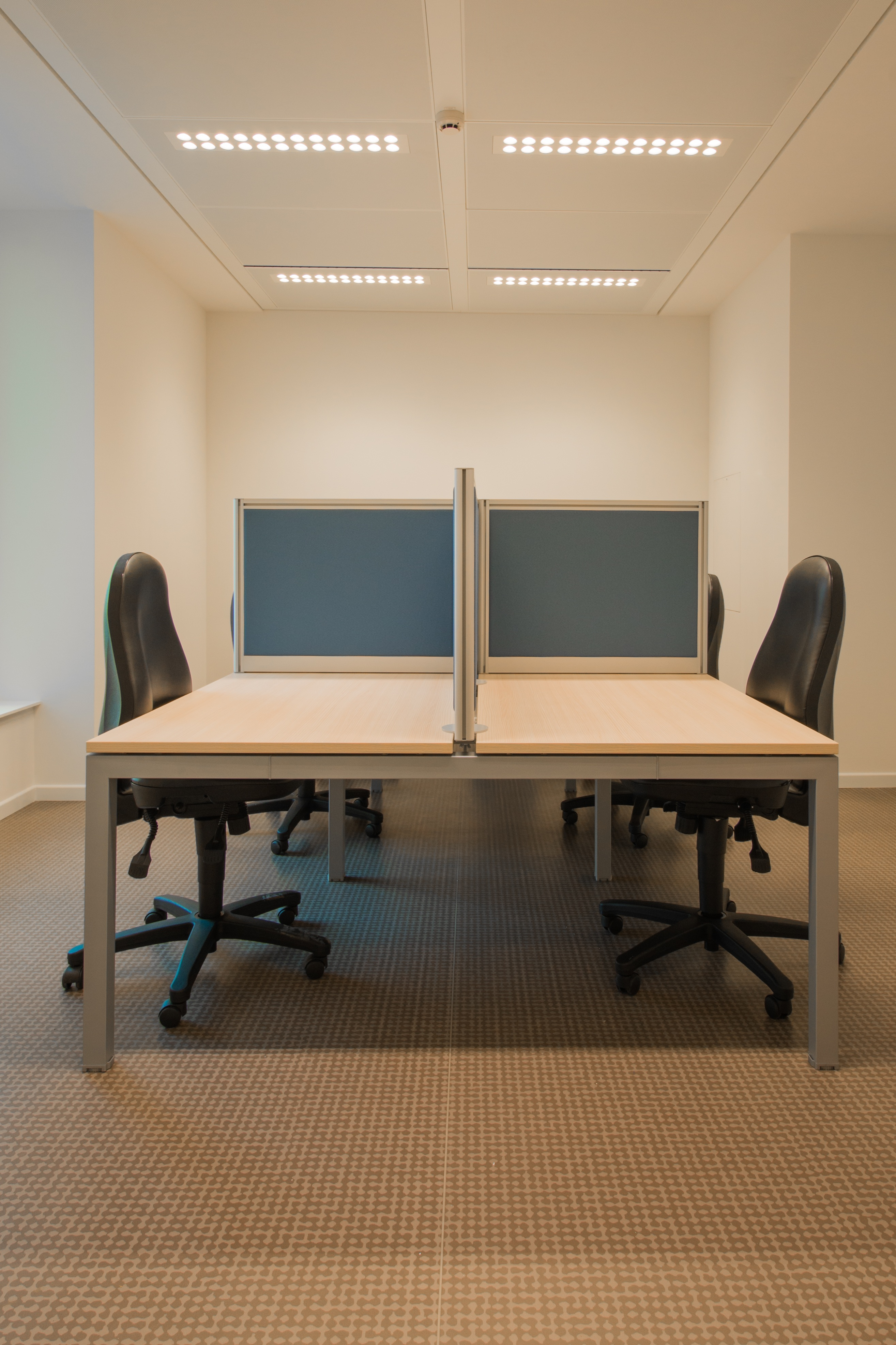 White Cubicle With Rolling Chairs 183 Free Stock Photo