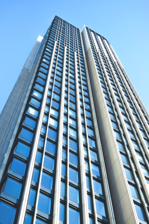Perspective Worms Eye View Building