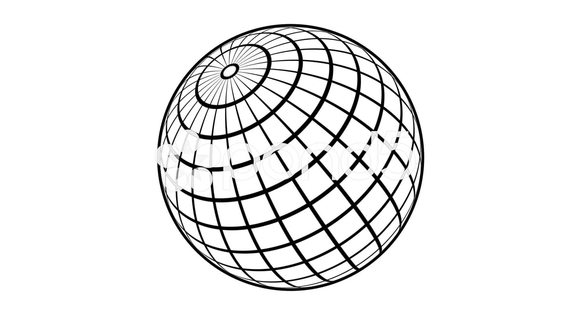 Wireframe globe spinning stock video 40412400 pond5
