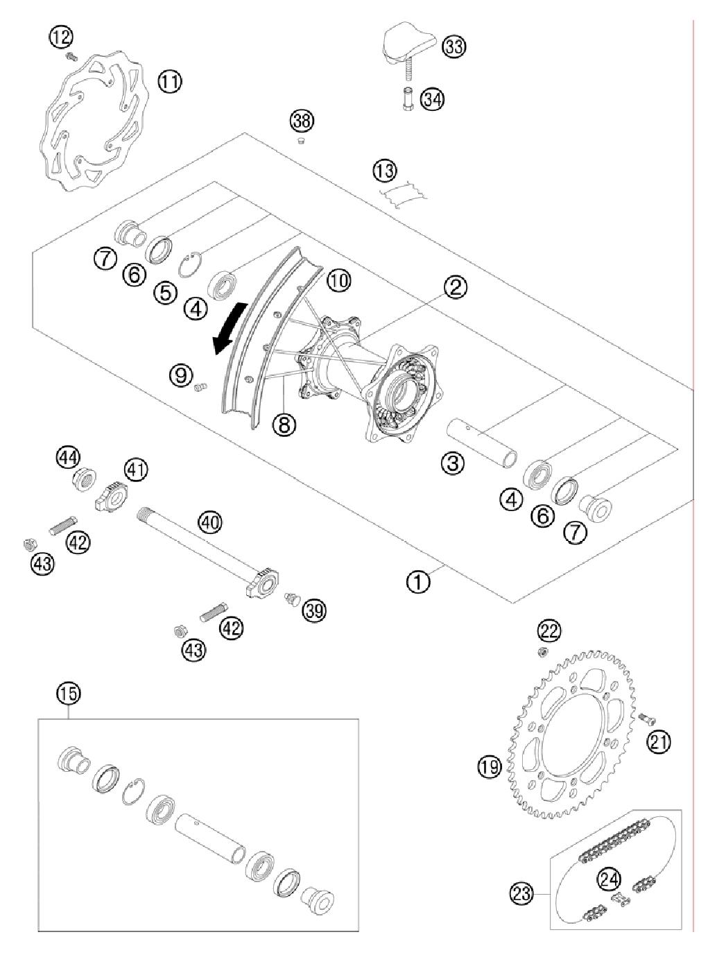 Запчасти на снегоходы ktm 2011 года 450 xc w sd chassis