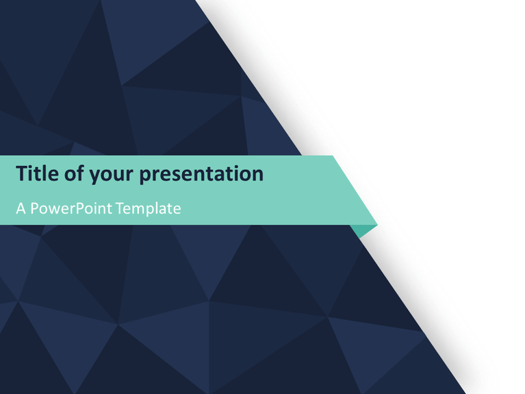 Abstract Triangle Pattern PowerPoint Template   PresentationGO com View Larger Image Free Abstract Triangle Pattern PowerPoint Template