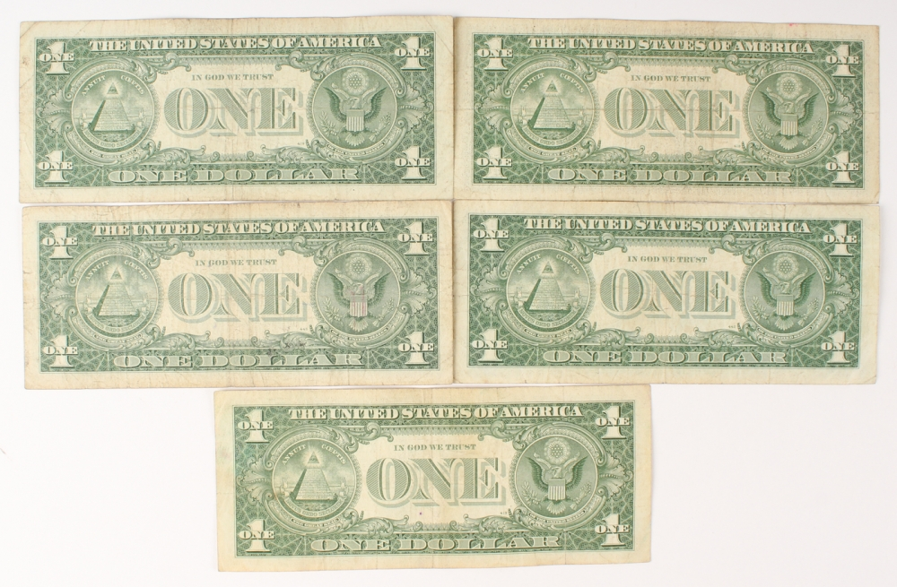 One Dollar Silver Certificate Series 1957 B