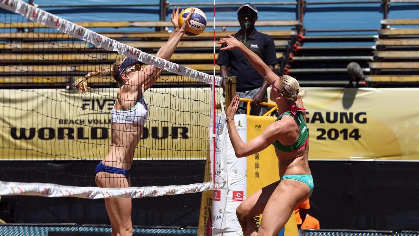 women's volleyball net height - HD1400×788
