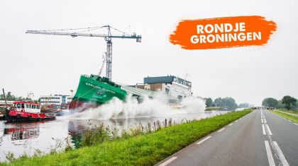 Rondje Groningen sees a ship going into the water