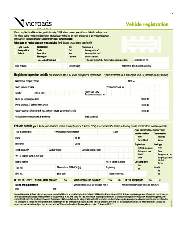 Know Your Vehicle Registration