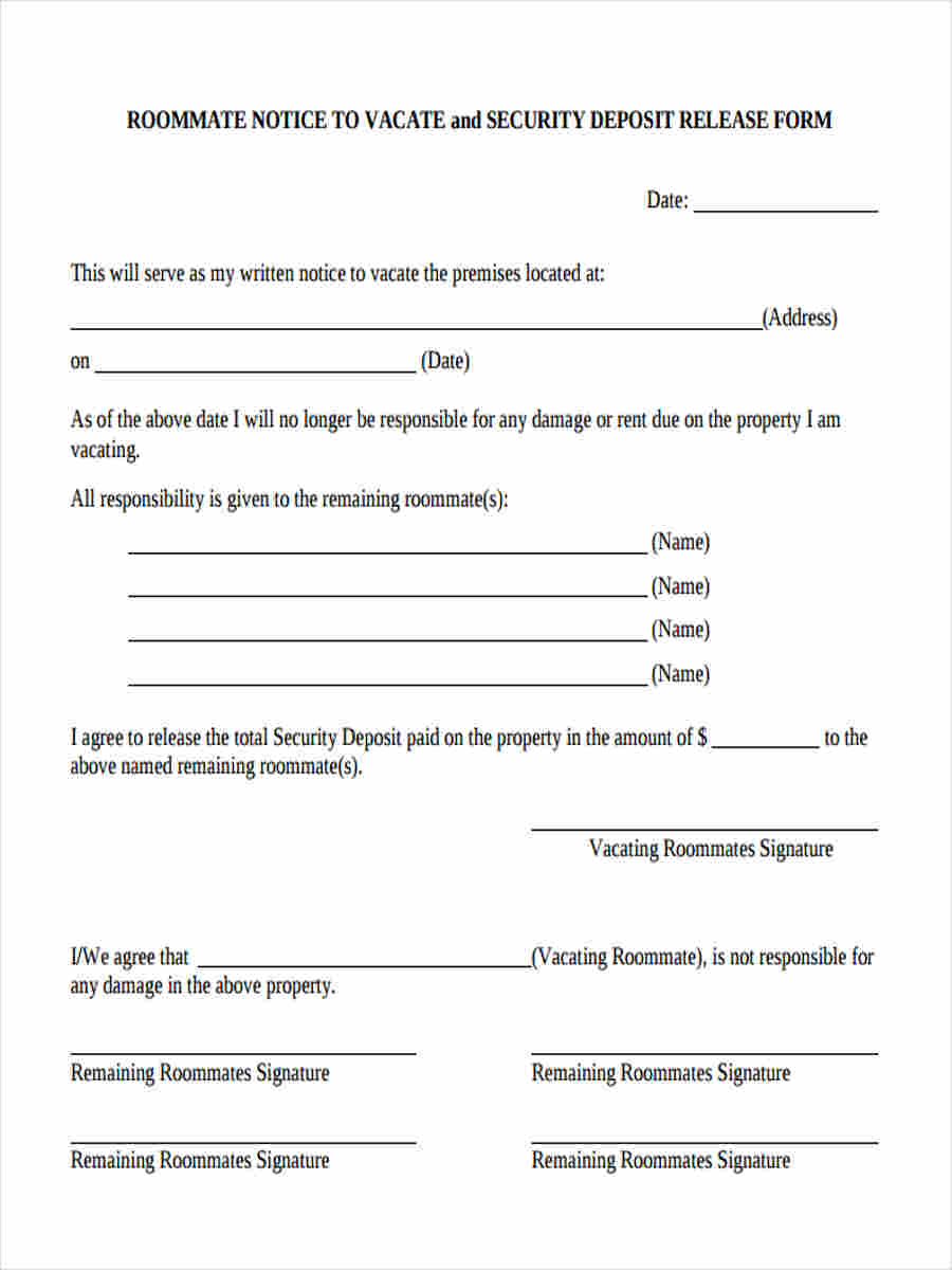 renters notice to vacate form