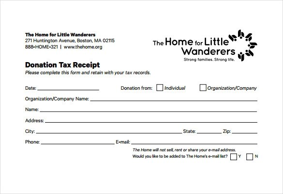 Letter Contribution Charitable Template
