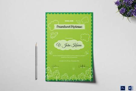 42 Printable Award Certificate Templates to Download   Sample Templates Preschool Award Certificate Template