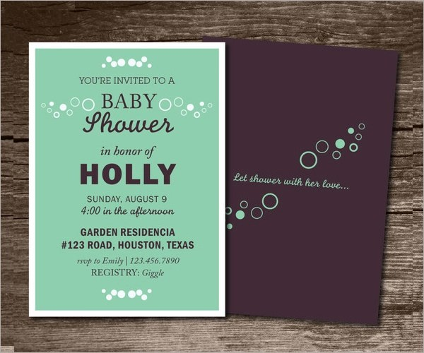 Baby Shower Invitation Card Ideas