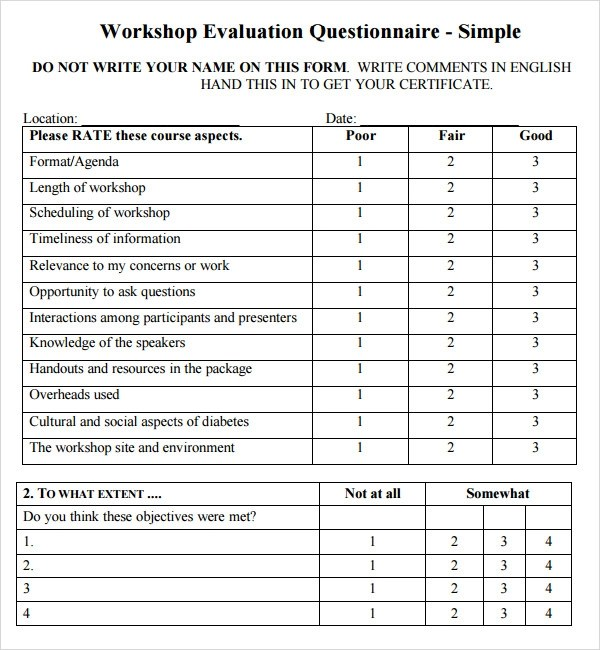 training seminar evaluation form - 570×617