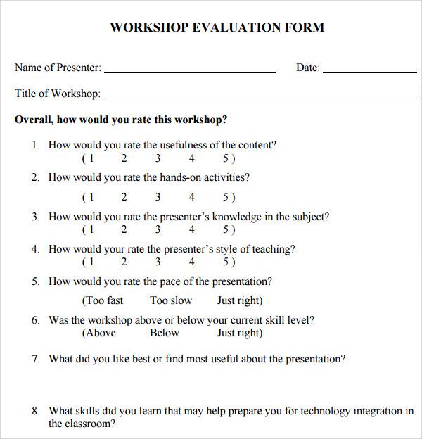 training seminar evaluation form - 600×624