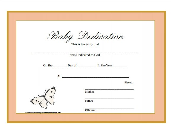 Baby Boy Blank Certificates
