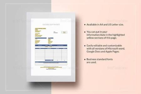 29  Sample Invoice Templates   Sample Templates Packaging Slip Invoice Template
