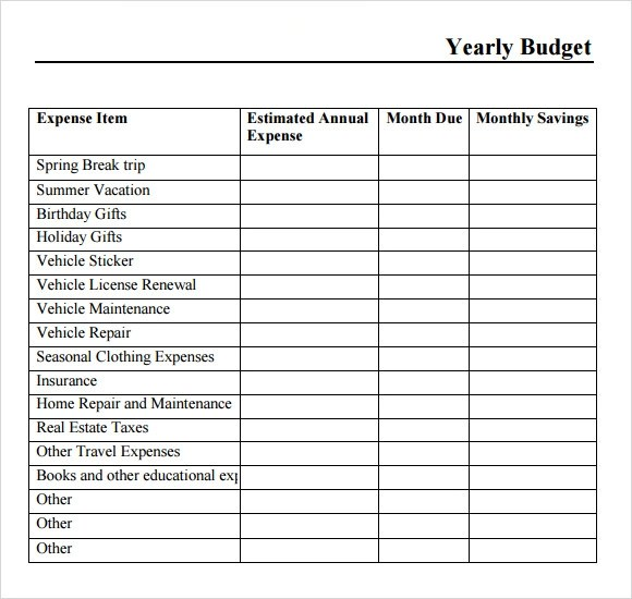 Free 9 Yearly Budget Samples In Google Docs Excel Ms