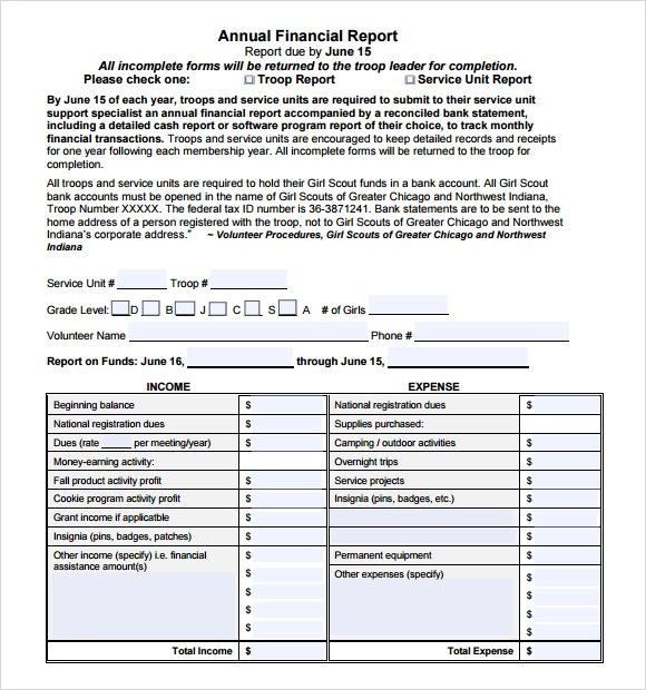 Sample Financial Report - 10+ Documents in PDF, Word, Docs