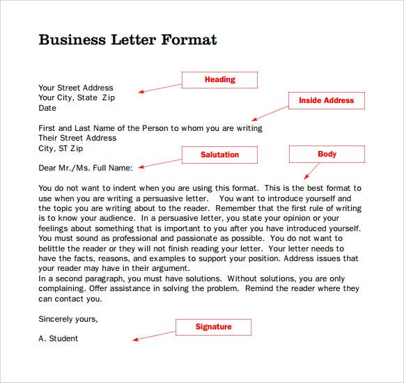 Parts Buisness Letter