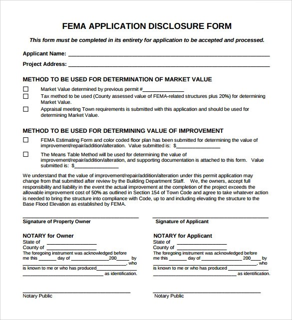 Fema Assistance Application Forms