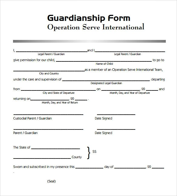 Printable Medical Consent Form Minor