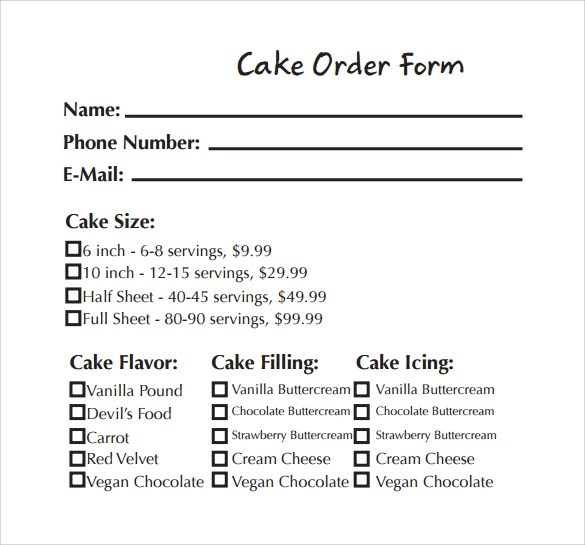 Cupcake order form images about order forms on pinterest sample order form template accmission Gallery