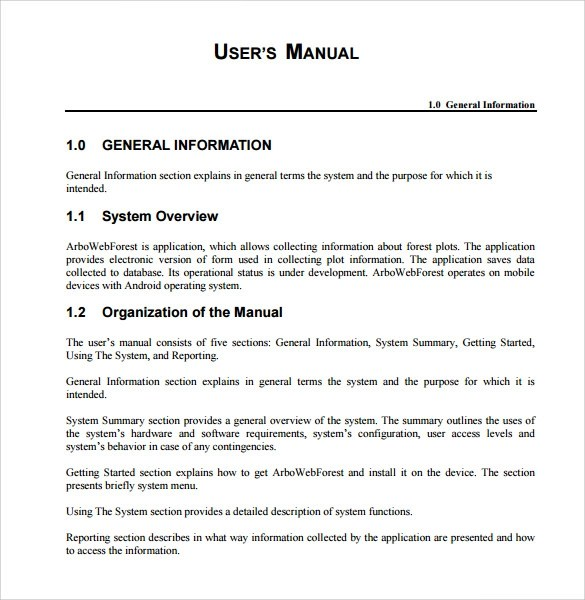 Sample Technical Manual