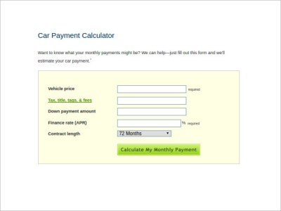 Sample Car Loan Calculator - 8+ Free Documents in Excel