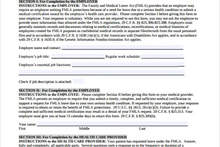 Free Letter Templates Fmla Certification Of Health Care Provider