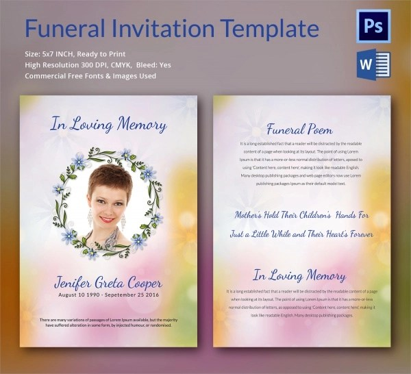Put Funeral Card What