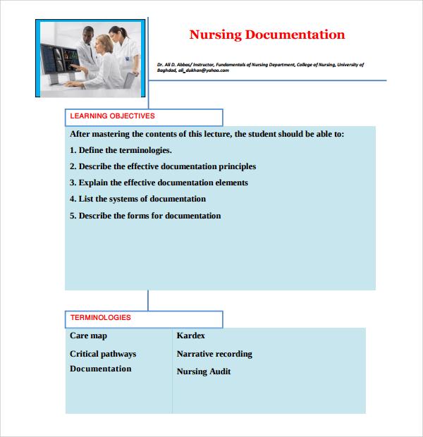 Sample Narrative Nursing