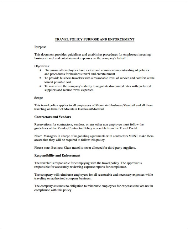 Corporate Security Policy Template