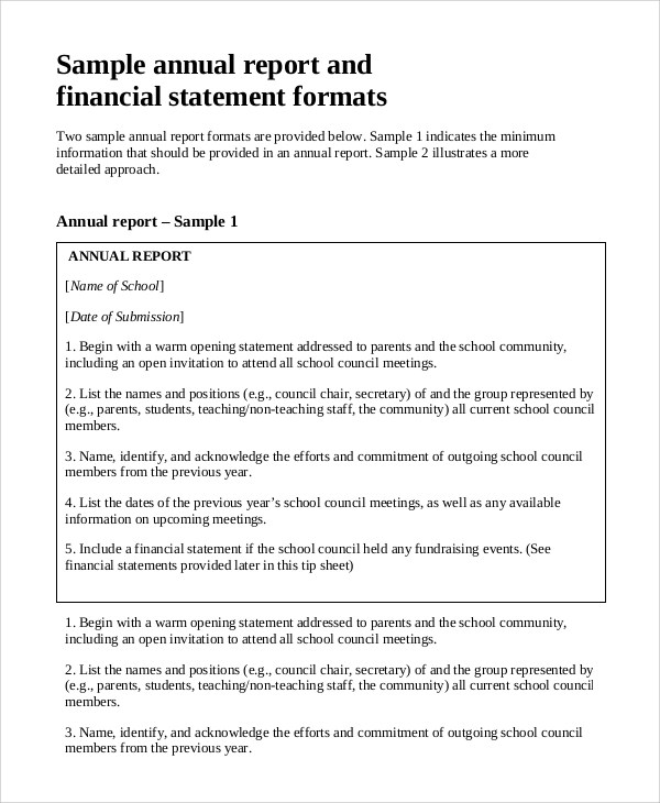 26+ Annual Report Samples - Word, PDF, Pages