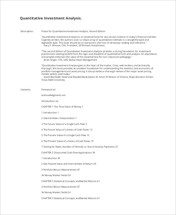 Example Financial Report
