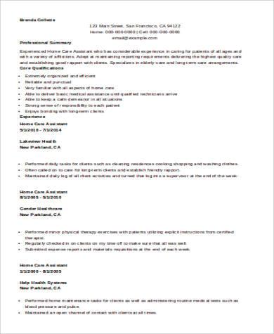 Sample Nursing Assistant Resume 8 Examples In Word Pdf