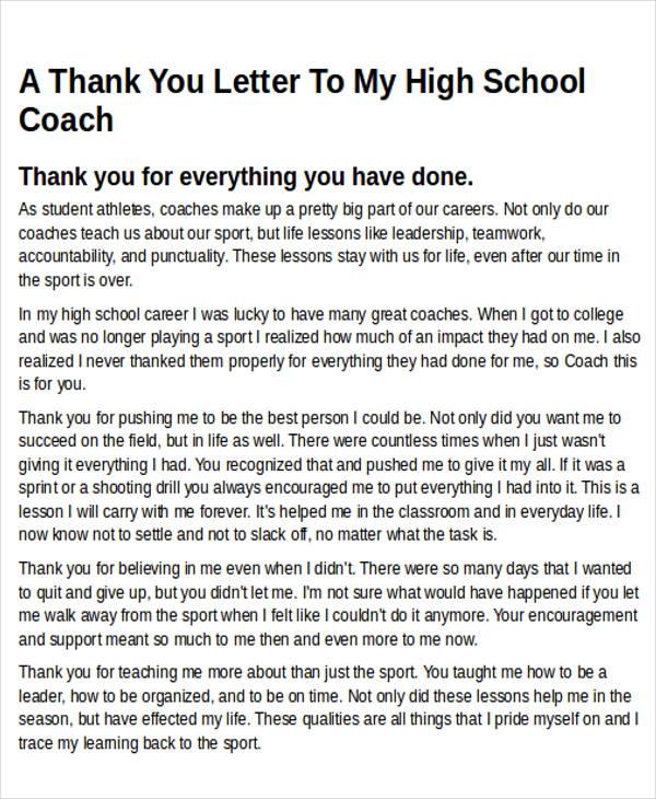 Thank You Message Coach